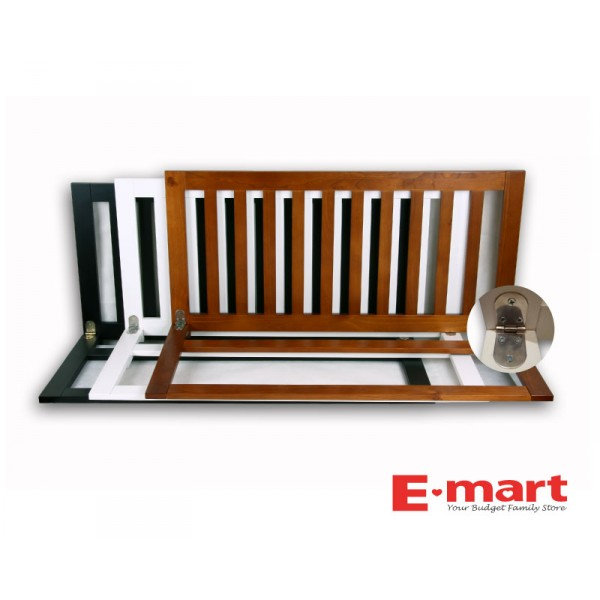 wooden bed rail 1